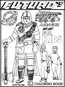 Free Fire Safety Coloring Page